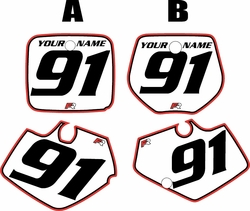 Yamaha YZ125 1991-1992 White Pre-Printed Backgrounds - Red Pro Pinstripe by FactoryRide