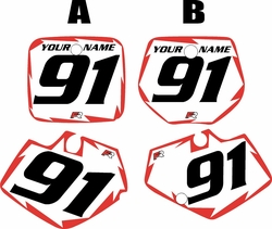 Yamaha YZ125 1991-1992 White Pre-Printed Backgrounds - Red Shock by FactoryRide