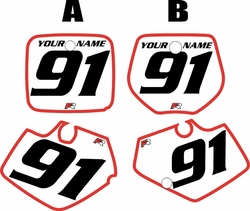 Yamaha YZ125 1991-1992 White Pre-Printed Backgrounds - Red Bold Pinstripe by FactoryRide