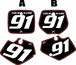 Yamaha YZ125 1991-1992 Black Pre-Printed Backgrounds - Red Pinstripe by FactoryRide