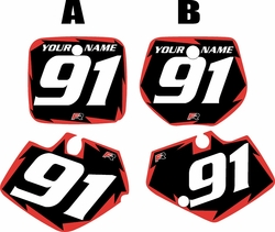 Yamaha YZ125 1991-1992 Black Pre-Printed Backgrounds - Red Shock by FactoryRide