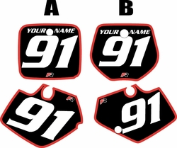 Yamaha YZ250 1991-1992 Black Pre-Printed Backgrounds - Red Bold Pinstripe by FactoryRide