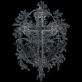 Cross Black White Gothic