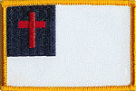 RED CROSS FLAG - EMBROIDERED PATCH - 2 SIZES AVAILABLE