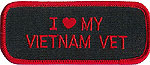 "I ""HEART"" MY VIETNAM VET - EMBROIDERED PATCH"