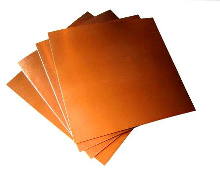 "6"" X 12""/ 5 Mil (36 ga.) Copper Sheets (4)"