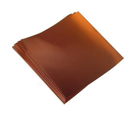 "6"" X 6""/ 16 Mil (26 ga.) Copper Sheets (10)"