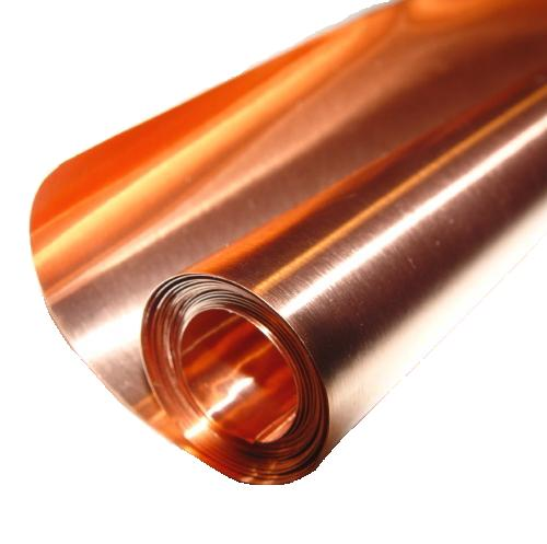 "12"" X 8'/ 16 Mil (26 ga.) Copper Sheet"