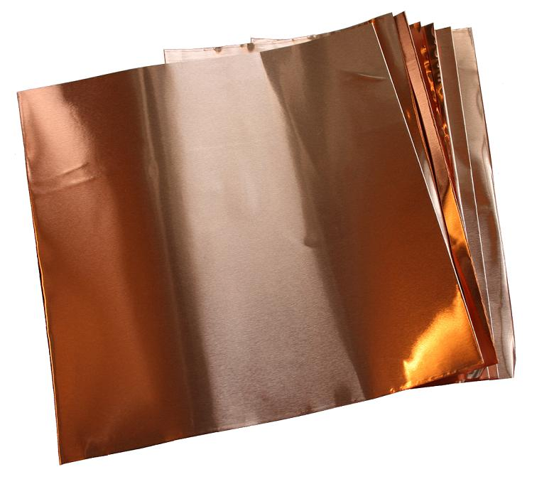 "6"" X 6""/ 1.4 Mil (.0014"") Copper Sheets (10)"