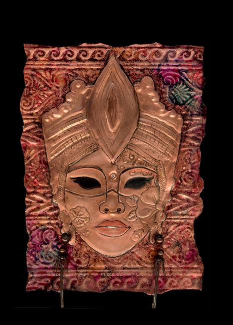 Embossed Copper Art & Masks - by J.W. Ford
