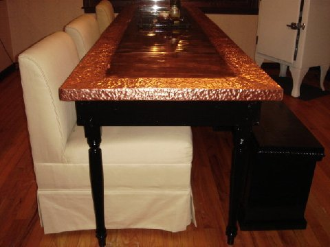Copper Covered Table - by Susi