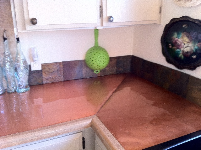 Copper Countertop - submitted by Kathy, Washington State