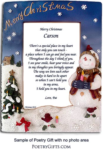 Love Poem in Snowman Frame