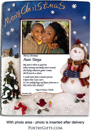 Aunt Gifts \'\'Merry Christmas\'\' Frame