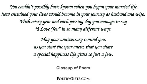 Poem for 35th wedding anniversary