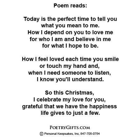 First Christmas Together - Poetry Gift