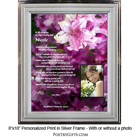 wedding gifts personalized for daughter With special wedding gift for daughter