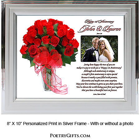Wedding anniversary gifts traditional 1st wedding for Traditional 1st anniversary gifts for her