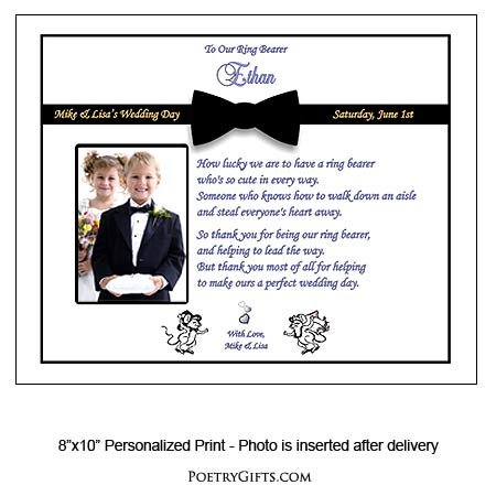 Poem For Ring Bearer From Bride And Groom