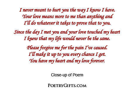 i am sorry for everything i did wrong poems