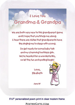 New Grandparent Gift from Baby Girl or Boy