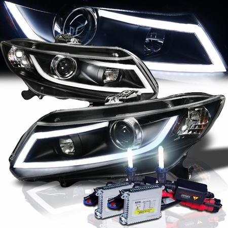 hid xenon 2012 2015 honda civic drl led projector. Black Bedroom Furniture Sets. Home Design Ideas