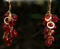 Crimson Keishi Pearls and Gold circles