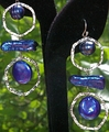 Cobalt Pearls and Silver