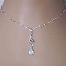 ESSENTIALS CZ CUBIC ZIRCONIA JEWELRY NECKLACE SET