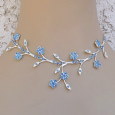 FANTASY LIGHT BLUE BRIDESMAIDS RHINESTONE JEWELRY SET