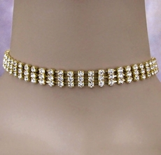 CRYSTAL SPLENDOR GOLD <BR>CHOKER SET