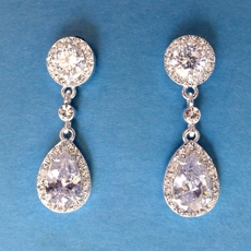 FELICITY CZ EARRINGS - CLIP-ONS ONLY AVAILABLE - SOLD OUT