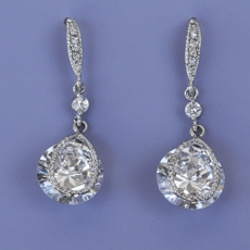 ADMIRE CZ RHINESTONE EARRINGS