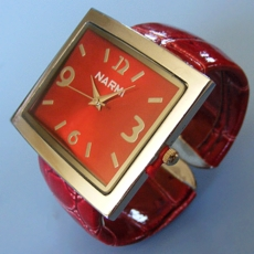 RED FACE CUFF WATCH
