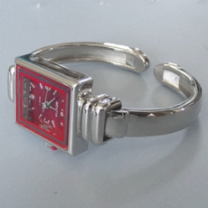 SLIM FACE RED CUFF WATCH
