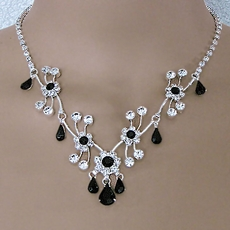SOFIA RHINESTONE BLACK JEWELRY SET