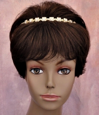 RECTANGULAR RADIANCE GOLD RHINESTONE HEADBAND
