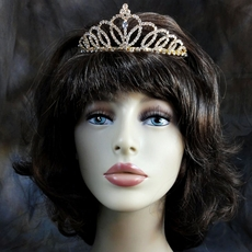 GOLDEN FOX RHINESTONE TIARA