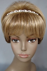 OVAL FAUX PEARL WEDDING GOLD HEADBAND - SOLD OUT OF SILVER