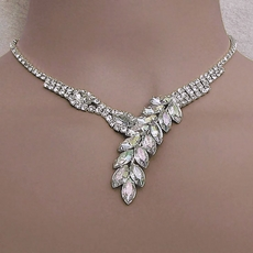 ARIELLA RHINESTONE JEWELRY CLEAR-AB NECKLACE SET