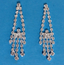 SWING RHINESTONE EARRINGS*