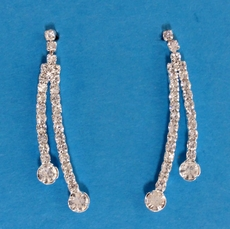 CURVED BALL RHINESTONE EARRINGS*