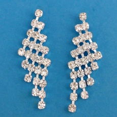 TRIANGLE WEB CRYSTAL EARRINGS* - ONE PAIR REMAINING