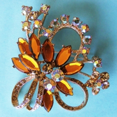 AUTUMN RHINESTONE BROOCH