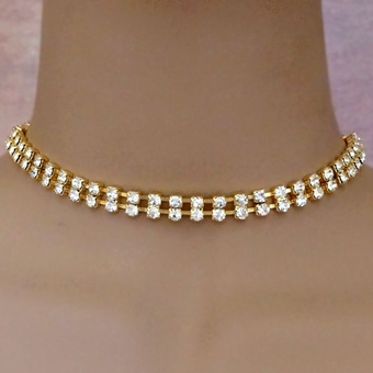 TWICE BLESSED GOLD CHOKER SET - out of stock