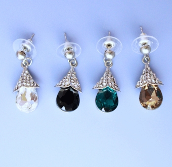 CRYSTAL BELLS RHINESTONE EARRINGS - SOLD OUT OF CLEAR