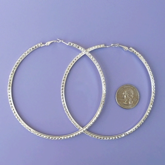 JL HOOP EARRINGS