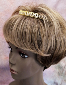 DOUBLE DUTY RHINESTONE HEADBAND GOLD OR SILVER