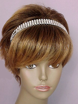 FIVE-STRAND RHINESTONE WEDDING HEADBAND