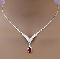 DIANES DAZZLE DEEP RED RHINESTONE SET